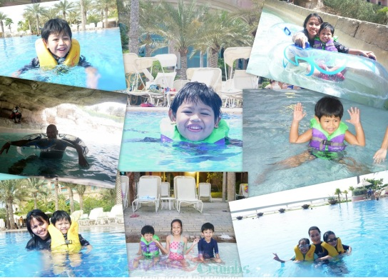 Swimming at Aquaventure, Royal Pool, and Zero Entry Pool
