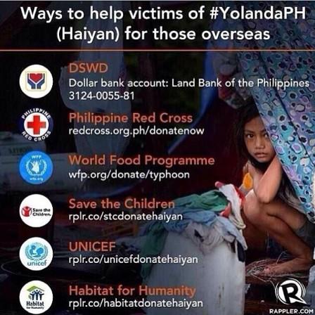 Ways To Help Haiyan Survivors