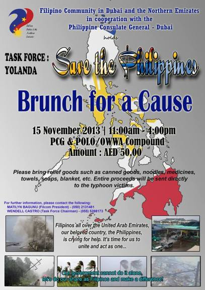 Brunch for a Cause for Yolanda Survivors