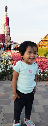 LittleMiss C at Dubai Miracle Garden