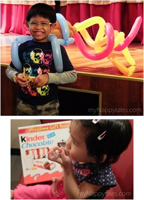 Balloon Twisting & JellO at Kinder Joy Chocolate Factory