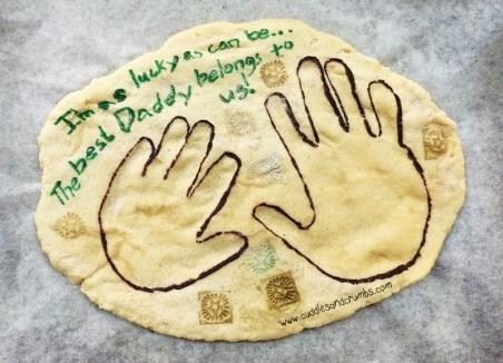Baked Salt Dough Hand Print