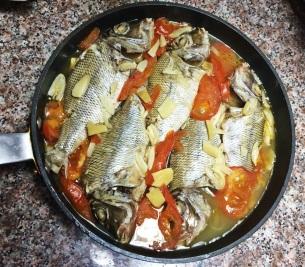 Fish and Tomatoes Pan