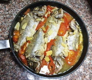 Fish and Tomatoes Pan