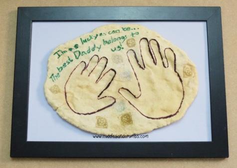 Framed Fossil Handprint