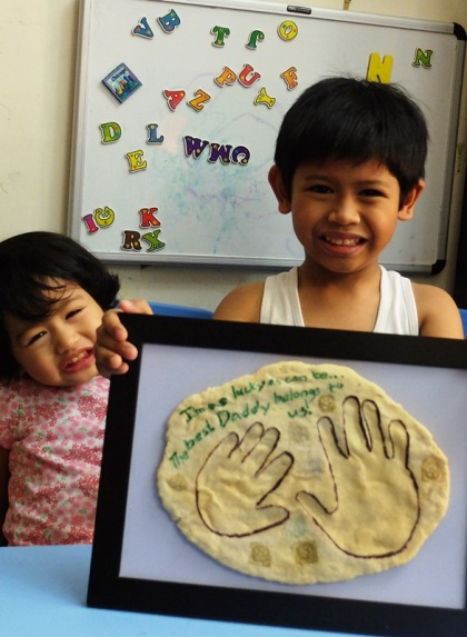 DIY Fossil Handprint for Father's Day