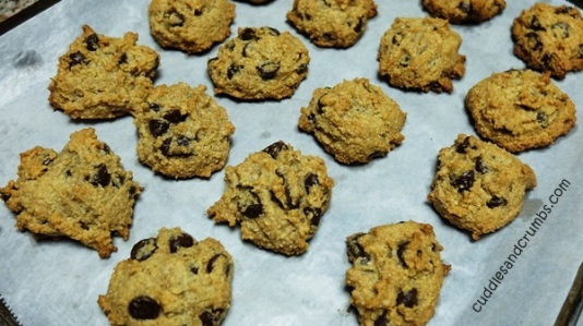 Cuddles and Crumbs Coconut Almond Chocolate Chip Cookies