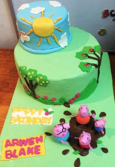 Peppa Pig Cake And Cookies Cuddles And Crumbs