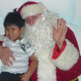 The first time with Santa in Dubai