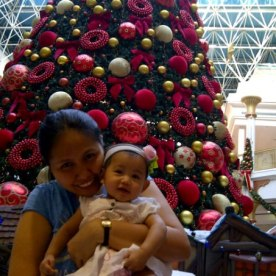 Christmas tree at Wafi Mall