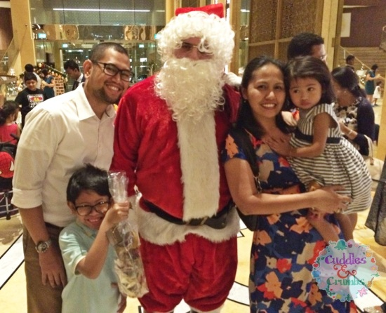C&C family photo with Santa