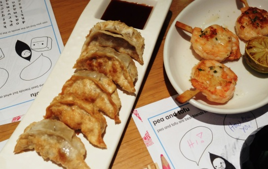 Gyoza and Kushiyaki