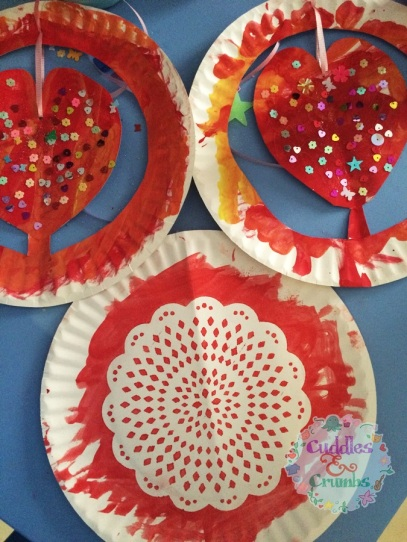 Paper Plate Hearts