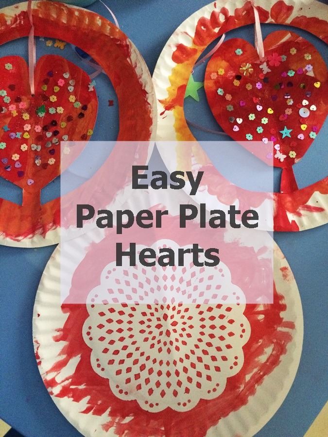 Paper Plate Hearts Craft