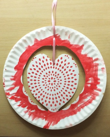 Paper Plate Heart