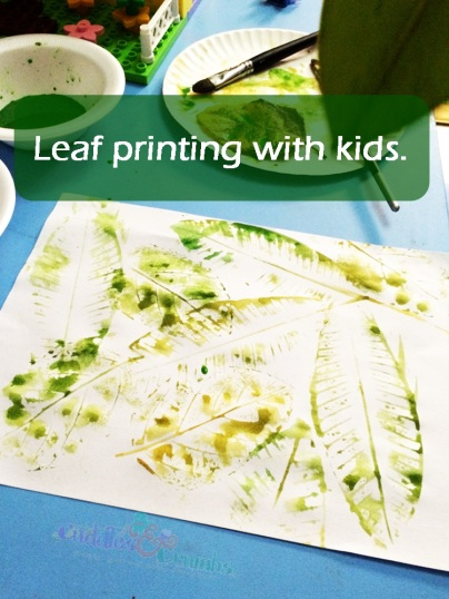 Leaf Printing with Kids