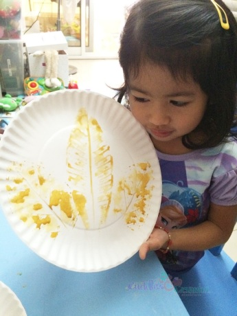 Leaf Print On Plate