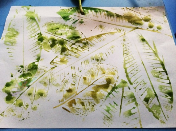 Leaf Printing Canvass
