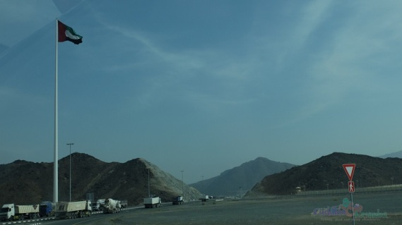 UAE Flag Entering Fujairah