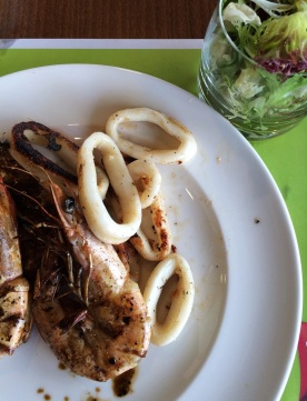 Il Centro Grilled Seafood Plate