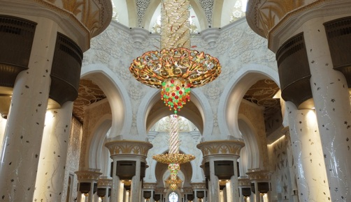 Abu Dhabi Grand Mosque Chandeliers