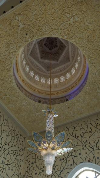 Abu Dhabi Grand Mosque Blue Chandelier