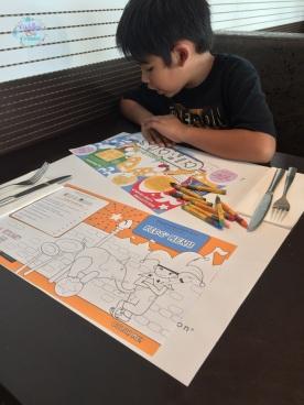 Eggspectation activity sheet and kids menu