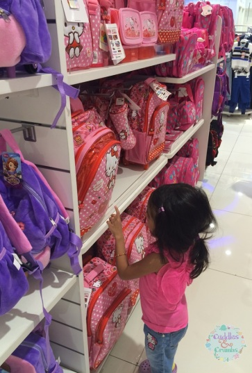 School Bag Shopping at Centrepoint