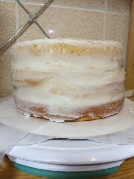 Wilton Course 1 Final Cake Crumb Coat