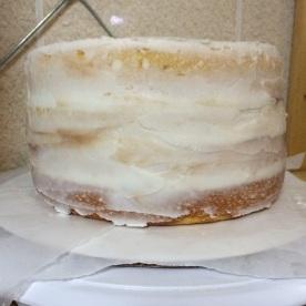 Wilton Course 1 Final Cake Crumb Coat