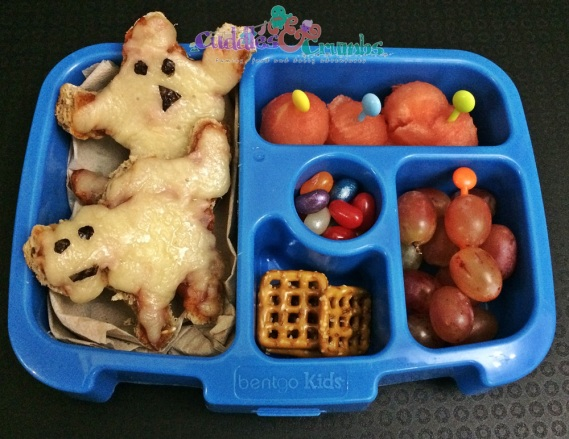 Bento 1525: Ghost & Scary Cat Pizza
