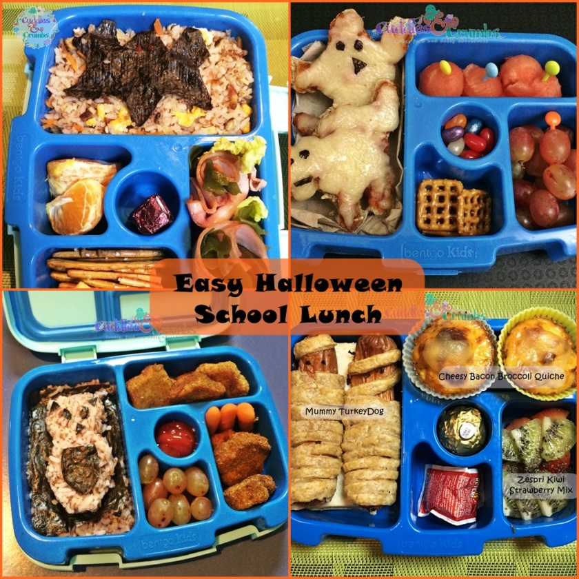 Easy Halloween Themed School Lunch