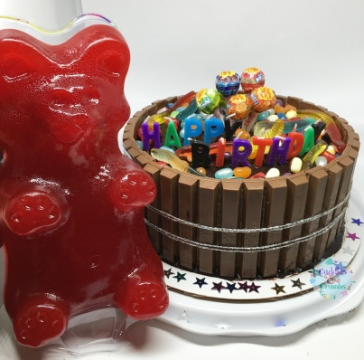 Largest Gummy Bear Kitkat Candy Cake