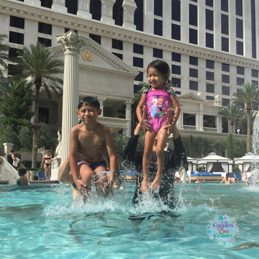 Ceasar Palace Pool Fun