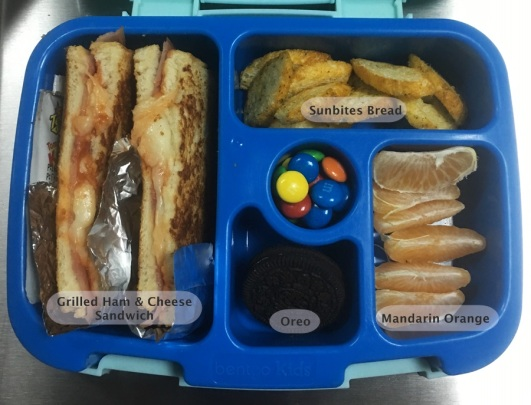 January 5 Bento - Grilled Sandwich