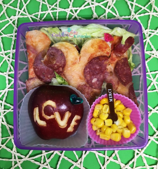 Valentines Pizza Love Bento