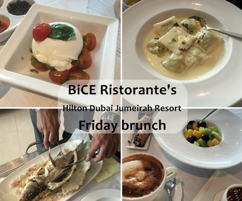 BiCE Friday Brunch Hilton Dubai Jumeirah Resort