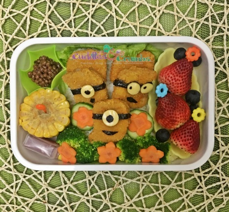 Minions Chicken Nuggets Bento