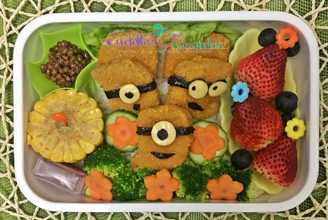 chicken nuggets minions bento how to lunch