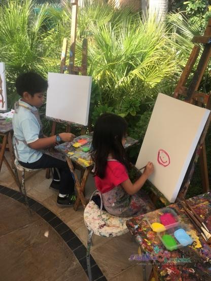 Kid activities at Ronda Locatelli Brunch