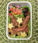 sausage octopus crab bento lunch pasta