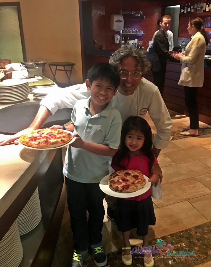 pizza with Chef Giorgio Locatelli