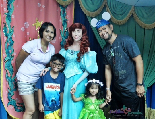 Family photo with Princess Ariel