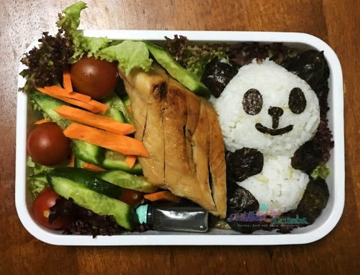 Chicken Breast Teriyaki Sauce with Panda Rice Bento Box