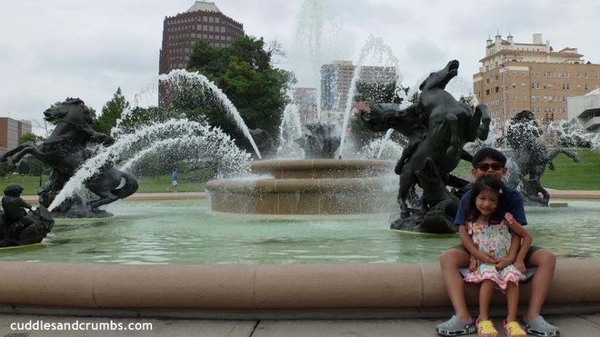 JC Nichols Memorial Fountain with horse