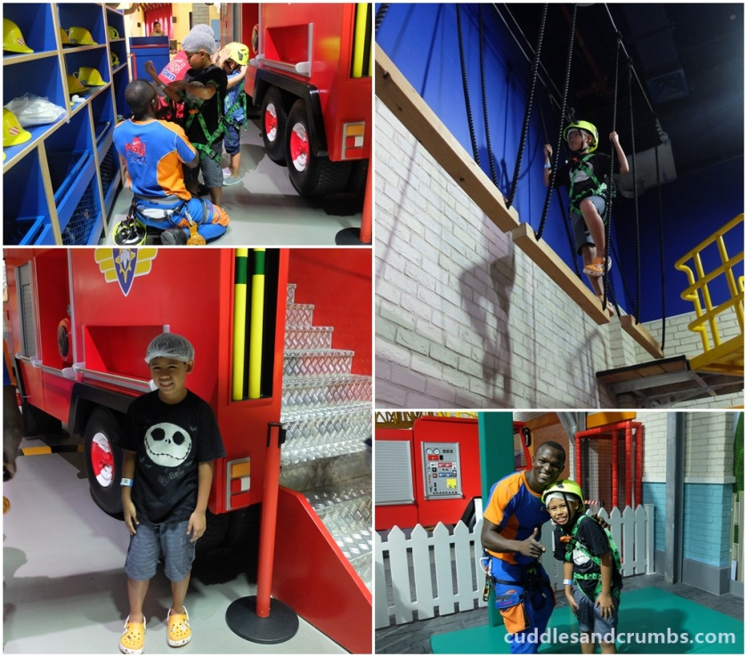 Fireman Sam play area at Mattel Play Town Dubai