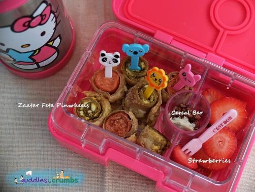Zaatar Feta Pinwheels Lunchbox