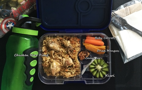 chicken rice pilaf bento lunchbox