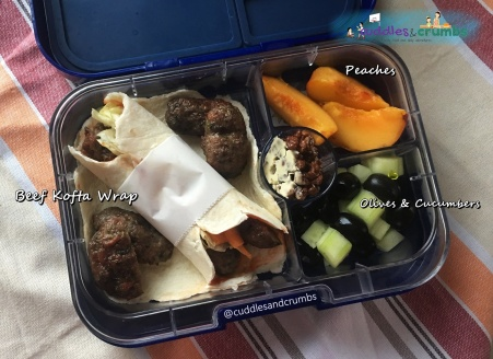 Bento Lunch Box Beef Kofta wrap