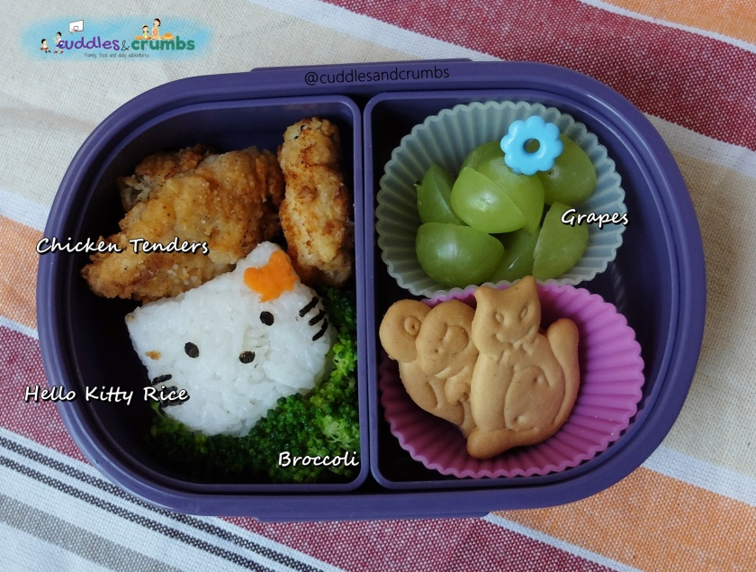 chicken tenders hello kitty bento lunch
